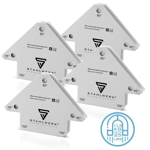 STAHLWERK 4 × angolo di saldatura magnetico Forza di tenuta fino a 25 lbs / 11,3 kg