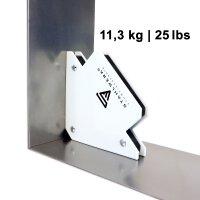 3 × STAHLWERK angolo di saldatura magnetico 25 / 50 / 75 lbs