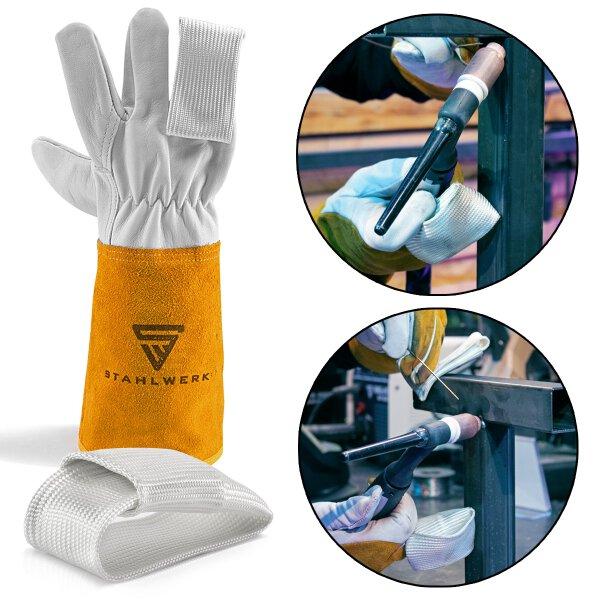 2 × TIG-finger / protezione termica per guanti da saldatura