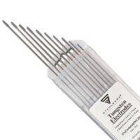 Elettrodi di tungsteno WC20 grigio 5 x 1,6 mm + 5 x 2,4 mm