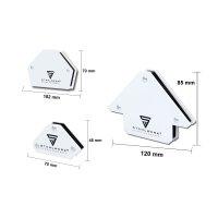 STAHLWERK Set di angoli di saldatura magnetici 6er